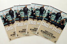 4 X CHASE AND STATUS  TOUR FLYERS - CHASE & STATUS