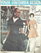 1960s Vintage VOGUE Sewing Pattern B38 DRESS (1556) By SYBIL CONNOLLY of DUBLIN