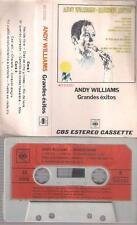 ANDY WILLIAMS Grande exitos   RARE SPANISH TITTLES CASSETTE  paper label