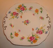 Royal Chelsea Bone China Roses Floral Spray Cake Plate