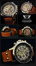 LUXURY CHRONOGRAPH CAVADINI WATCH TACHYMETER SWIVELLING RING NEW DESIGN 2015
