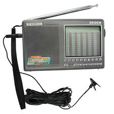 DEGEN DE1103 DSP Radio FM SW MW LW SSB Digital World Receiver+Antenna+Earphone