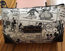 "Disney Dooney & Bourke Mickey & Minnie Comic Cosmetic Case Make Up Bag ""NWT"""
