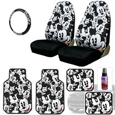 New Design Mickey Mouse Car Seat Covers Floor Mats Accessories Set For Jeep