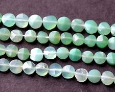 """SHADED CHRYSOPHASE FACETED COIN 3.5 MM NATURAL GEMSTONE 14"""" STRAND -893"""
