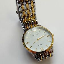 Sekonda Classic White Dial Two Tone Stainless Steel Bracelet Mens Watch 3449
