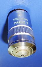Leitz 100X EF Phaco-3  oil immersion Phase Contrast  Microscope Objective