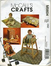 McCalls Pattern M5604 BABY ITEMS Bibs, Stoller Liner, Mats, High Chair Cover etc