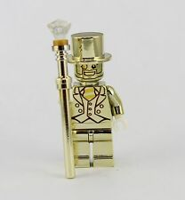 Mr Gold REPLICA - Lego Figure - Custom Chrome Mini Fig