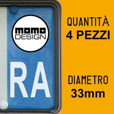 Kit 4 ADESIVI PER TARGA MOMO DESIGN plate auto moto Europa custom stickers decal