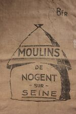 Vintage burlap jute old  French Grain Sack bag grainsack Hessian Jute mill bag