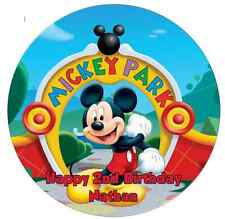 Personalised 19cm Mickey Mouse Edible Wafer Paper Cake Topper