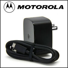Original Motorola TurboPower ™ 15 Wall Charger With Micro USB Data Cable MOTO G3