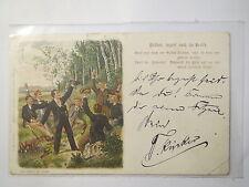Brüder lagert euch im Kreise - 1899 - Lied-Karte - Studenten / Studentika