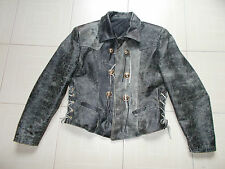 Giacca di VERA PELLE (made in Italy) Tg II , VINTAGE LEATHER JACKET