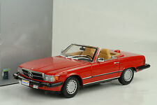 1985 Mercedes-Benz 300 SL US (R107) Cabriolet red rot 1:18 Norev Dealer