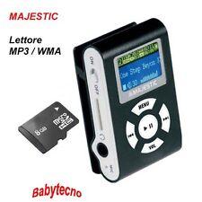 Majestic Lettore Multimediale SDB8339 Black MP3 WMA Display Radio MICROSD 8GB NE