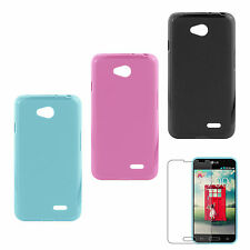 MetroPCS 2 TONE COLOR GEL CASE WITH SCREEN PROTECTOR MADE FOR LG OPTIMUS F60