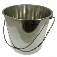 Stainless Steel Metal Bucket 12 Litres Food Catering Kitchen Chef Wine Ice Tub