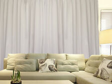 Blockout Curtain 267x230cm PINCH PLEAT panel Blackout High Level Fabric, Cream