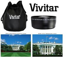 Pro HD4 Optics Vivitar 2.2x Telephoto Lens For JVC GC-PX100 GZ-GX1