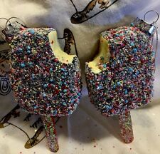 Chocolate Sugar Coated Sprinkled Popsicle Ice Cream Ornaments Christmas Tree S/2