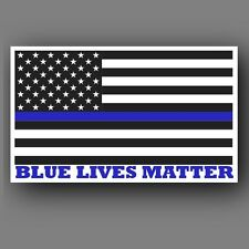 "Two (2) Blue Lives Matter American Flag 6"" Car Truck decal sticker"