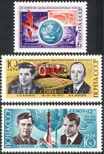 Russia 1974 Space/Rockets/Astronauts/Soyuz/Weather/Meteorology 3v set (n25277)