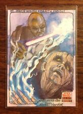 Mace Windu Darth Sidious Star Wars Galaxy 5 color sketch card 1/1 Alcorn-Hender