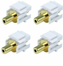4x 3.5 mm Aux Jacks for Keystone Stereo Coupler Audio Cable Female to Female F/F