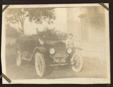 PETITE PHOTO VEHICULE ANCIEN AUTOMOBILE TORPEDO OLD CAR NON IDENTIFIE