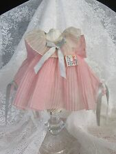 "Vintage 1930s Ideal Shirley Temple Tagged Pink Organdy ""Dancing"" 13"" Doll Dress"