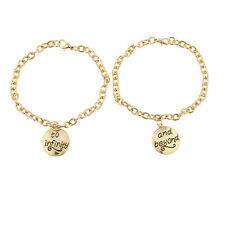 Lux Accessories Gold Tone To Infinity And Beyond BFF Charm Bracelets
