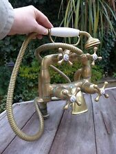 Antique Old Dent & Hellyer Ltd London WC Solid Brass Bath Shower Mixer Taps Uniq