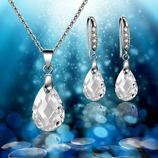 Swarovski Element Necklace Earring Jewellery Set - Bride Wedding Bridesmaid Prom