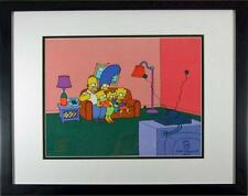 Matt Groening Autographed Simpsons Sericel cel PSA/DNA Certified Fox NEW Frame