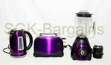 Matching Kitchen Set 1.7L Electric Cordless Kettle Toaster 500W Blender PURPLE