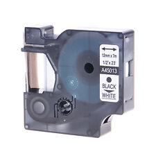 Schriftband Kasette für DYMO D1 45013 12mmx7m schwarz auf weiss 260P 350D 420P