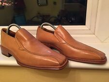 MEN'S LEATHER SLIP ONSHOES SIZE 8 UK , 41 EU -  NEW IN CROCKETT & JONES  BOX