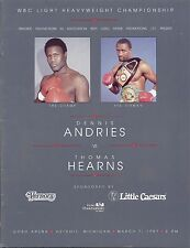Thomas Hearns Winning of Third World Title On Site Boxing Program March 7, 1987