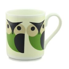 Orla Kiely Bone China Mug - Green Olly Owl Design