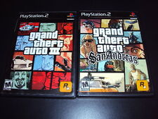 "Grand Theft Auto San Andreas & GTA III LOT ""Great Condtion"" (PS2) Complete"