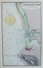 OLD ANTIQUE MAP SEA CHART AFRICA WEST COAST CAPE MOUNT RIVER c1900