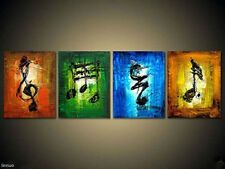 Music art 4 piece Large hand-painted Art Oil Painting Wall Decor canvas NO frame