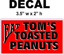 Eat Tom's Roasted Peanuts Decal, Great for Dioramas, Gumball Machine & More