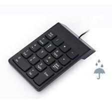 Negro USB 18 Teclas Teclado Numérico Número Teclado Teclado Numérico Para Notebook Windows Mac