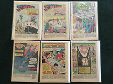 Lot of 6 Coverless Superman Comic Books
