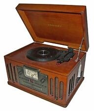➤Crosley CR74 Musician All-in-1 Turntable AM/FM Radio/CD/Cassette/Record Player