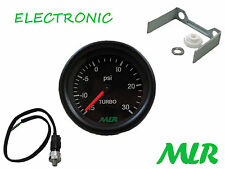 52MM BOOST GAUGE & SENDER KIT BLACK FACE 30PSI ELECTRONIC STEPPER MOTOR AUW