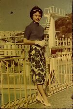 Beautiful Young Woman Asian Hong Kong Vintage 1960's 35mm Commercial Slide A92 f